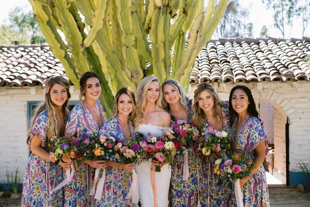 bridesmaids at leo carrillo ranch